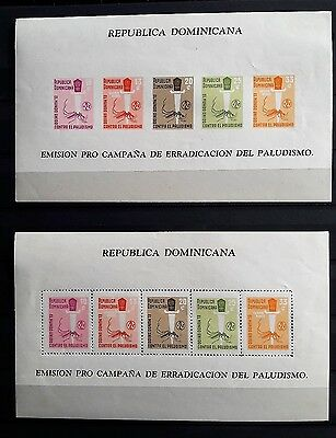 Dominican Republic 1962: Malaria Eradication - MNH Perf./Imperf. Ss