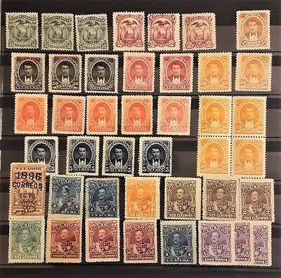 Ecuador 1881-1896: small collection of old stamps MVLH