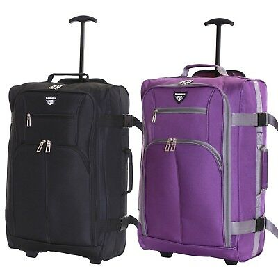 Ryanair Easyjet 55 cm Cabin Approved Hand Trolley Suitcase Luggage Case Bag