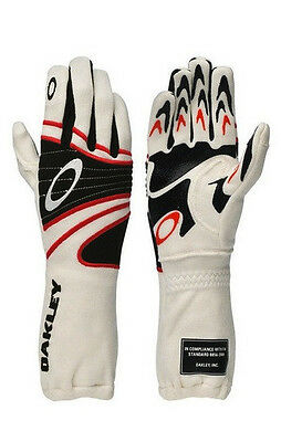 New Oakley FR Driving Glove - White -94106-100-L Racing Gloves Large Nomex
