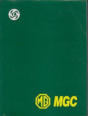 Mg Mgc Gt Coupe & Roadster ( 1967 - 1969 ) Factory Workshop Manual