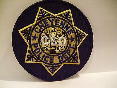 police patch   CHEYENNE POLICE WYOMING