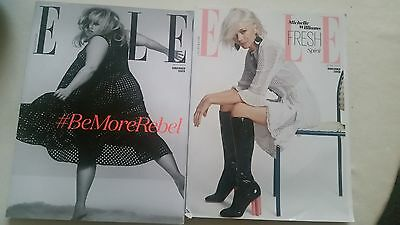 April & May 2015 Subscriber Cover Copys of Elle UK Magazine