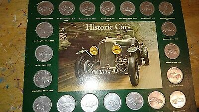 shell historic cars coin collection