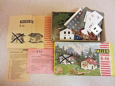 FALLER HO Scale House Kit B-46 (Part Kit, One House Remains)