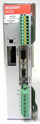 BECKHOFF AX2526-B200 SERVO DRIVE AXIS MODULE AMP 1.2, FIRMWARE Revision V6.48