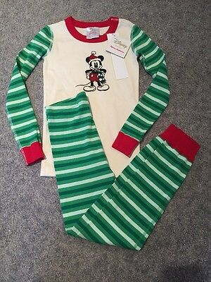 Hannah Andersson Disney Collection Mickey Mouse Pajamas Size 120cm 6-7 Nwt