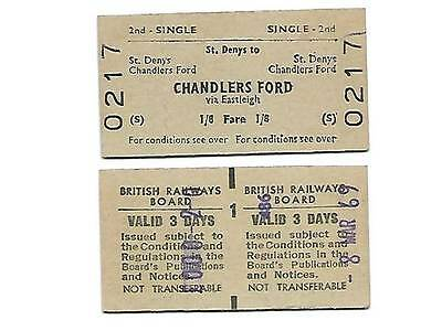 St Denys to Chandlers Ford Railway Ticket