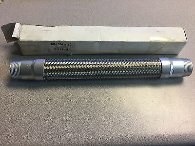 New Mason Mercer Flexible Stainless Steel Metal Air Compressor Hose 1 X 12 Male