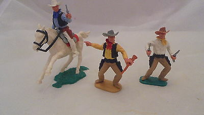 54mm timpo plastic swoppet mtd and foot cowboys [early 1960s]