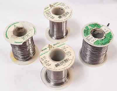 Lot Of 4 Various Aim Sn63/pb37 Leaded Electronic Soldering Wire Spools 2% Flux