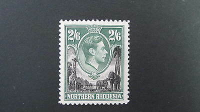 Northern Rhodesia KG6 1938-52  2/6  SG 41 MM cat £14