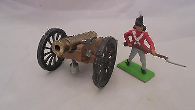 54mm britains plastic awi /napoleonic cannon and deetail napoleonic british ft