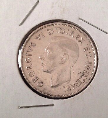 1942 Canada 50 Cents Coin