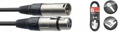 Stagg XLR-XLR Microphone Cable. Available in 1m, 3m, 6m, 10m, 15m & 20m Lengths