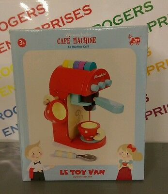 Le Toy Van Honeybake Cafe Machine Wooden Coffee Maker Toy NEW & Sealed