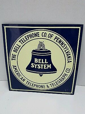 Vintage metal Bell Telephone of Pa AT&T  sign