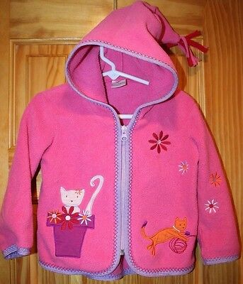 Hanna Andersson size 80 12-18 months Girl's Best Ever Fleece Hooded jacket