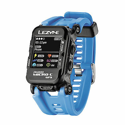 Lezyne Micro GPS Watch With Color Screen Blue