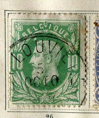 BELGIUM;  1869 early classic Leopold issue used 10c. value