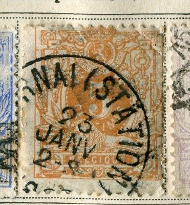 BELGIUM;   1869 early classic Numeral issue used 5c. value