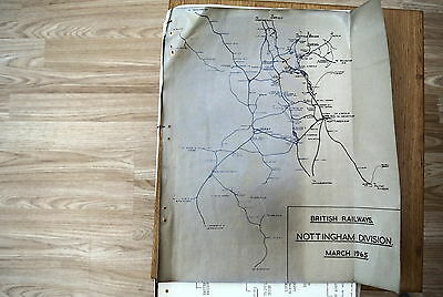 British Rail LMR Careers Course programme 1965 - route map & organisation chart