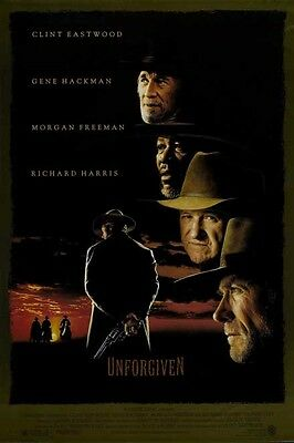 Art Poster UNFORGIVEN Movie Clint Eastwood Western Silk Wall Decoration D015