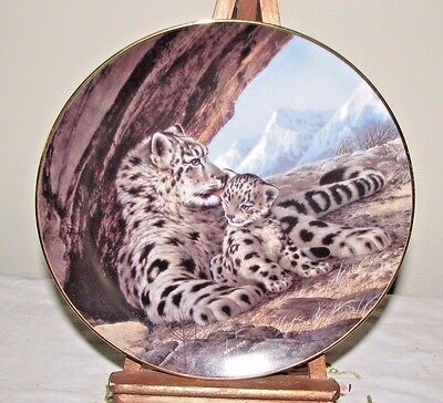 Snow Leopard Plate Last Of Their Kind Endangered Species Artist Will Nelson