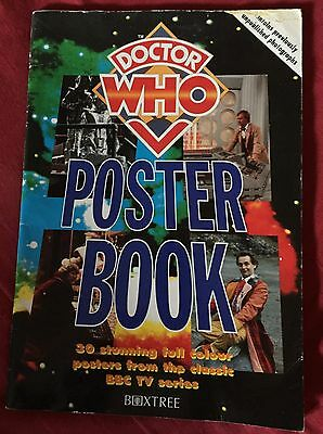 BOOK The Doctor Who POSTER BOOK 1995 Large Format Paperback