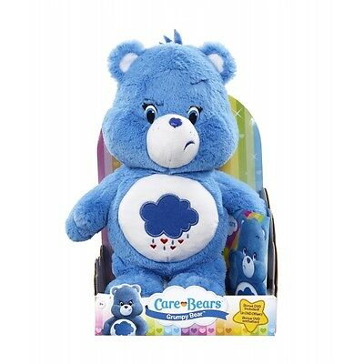 Care Bears Plush (Medium) with DVD - Grumpy Bear - Brand New