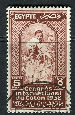 EGYPT;  1938 Cotton Congress Cairo issue fine used 5m. value
