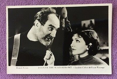 """""""I Cover The Waterfront """" with Claudette Colbert Postcard (plain back)"""