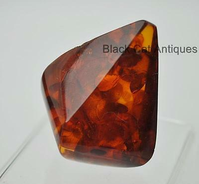German Estate Find - Genuine Cognac Amber - Angular Polished Pendant 16.6 Grams