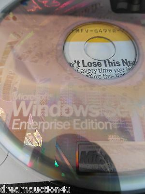 NEW UNACTIVATED Microsoft Windows Server 2003 Enterprise Retail Commercial + KEY
