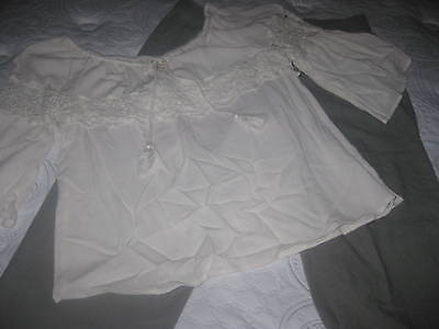 Womens Outfit Pants and Top Khaki Capri Lace Top Size Large Pretty Comfy