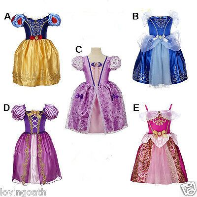 Kids- Girls Dresses Elsa Frozen dress costume Princess Anna party dresses