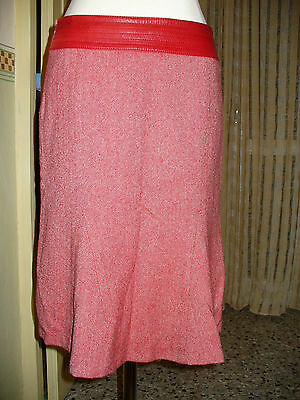 Gonna In Lana Spinato Rosso Twill Vintage