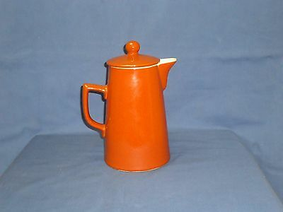 Vintage langley windmill 1.5 pint stoneware coffee pot red glazed farmhouse