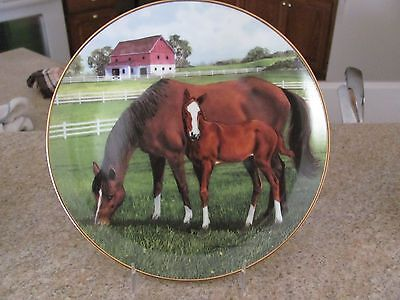 """L.e. Horse Plate - """"morning On The Farm"""" - Donald W. Patterson"""