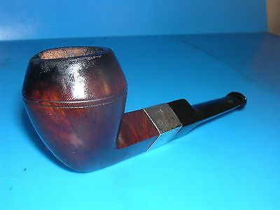Smoking Pipe  Silver Colered hall MarkedStraight Bulldog Estate Pipe VGC