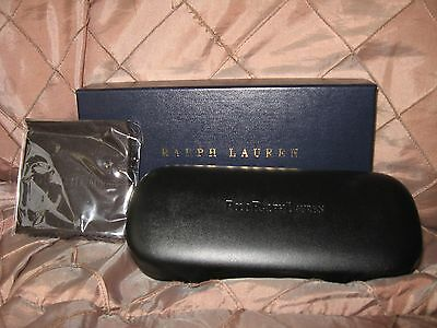 POLO RALPH LAUREN,mens black glasses/ sunglasses hard case,with box and cloth