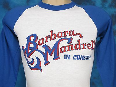 NOS vintage 80s BARBARA MANDRELL CONCERT RAGLAN T-Shirt XS country jersey thin
