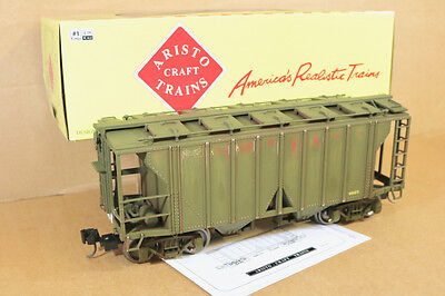 ARISTOCRAFT 41215 G SCALE REFINISHED 2 BAY COVERED HOPPER CAR WAGON 4023 qd