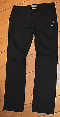 Woman's Craghoppers hiking trousers Size 12R Black outdoor pursuits climbing