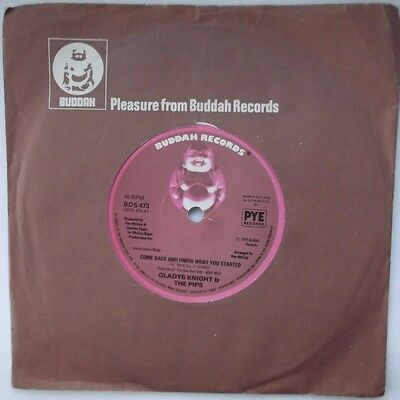 GLADYS KNIGHT & THE PIPS ~ COME BACK & FINISH WHAT YOU STARTED. 7in Single 45rpm