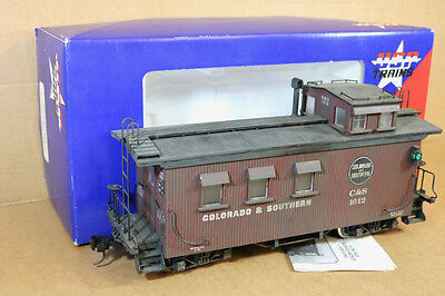USA TRAINS R-12002 G SCALE COLORADO & SOUTHERN C&S CABOOSE 1012 WEATHERED qd