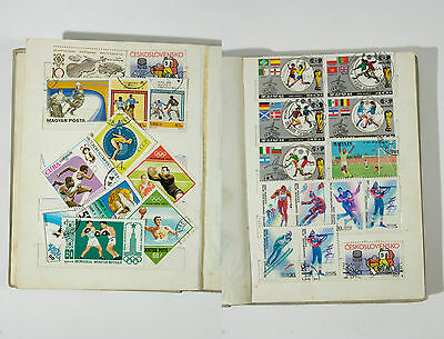 USSR and soviet block stamp collection in authentic old album