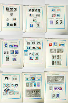 Grand stamp collection SPACE stamps blocks many countries authentic USSR album