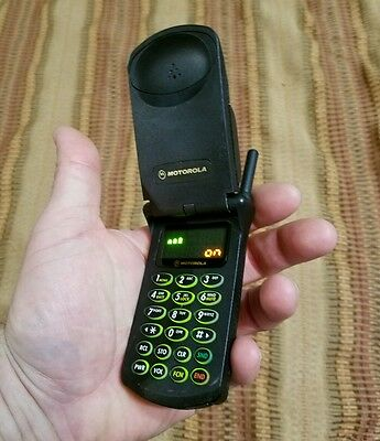 Vintage Motorola StarTac Cell Phone Model 80231 w/Charger & Accessories Working