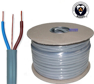 Best 1.5mm Twin & Earth T&E Electrical Cable Wire 50M Metres New Colours 6242Y